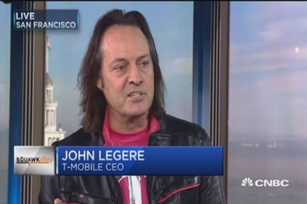 T-Mobile CEO John Legere on deal chatter: 'Nobody's talking'