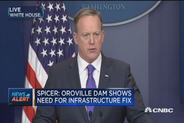 Spicer: Oroville Dam shows need for infrastructure fix