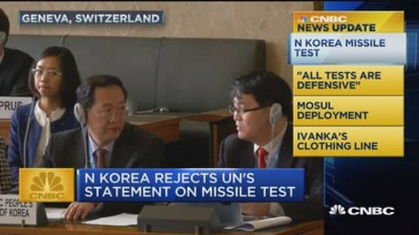 CNBC update: North Korea missile test