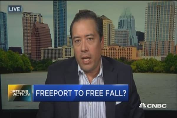 Options Action: Freeport to free fall?