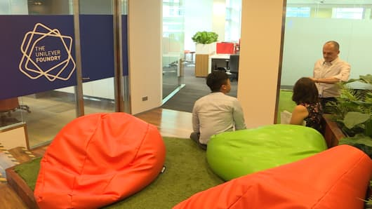 Unilever's LEVEL3 co-working space in Singapore