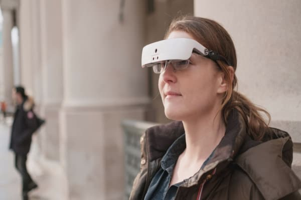 eSight makes glasses that let the blind see