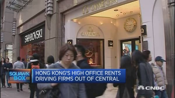 Are office rents getting too high in Hong Kong?