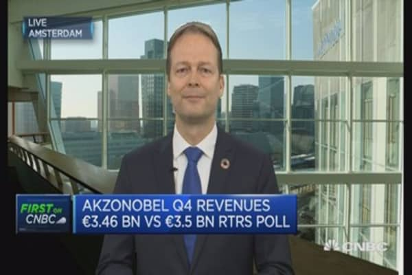 Weakening of marine and protective oil and gas segments: AkzoNobel CEO