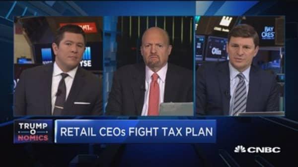Cramer reacts to Apple CFO on border tax