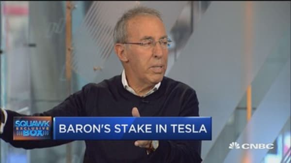 Buy-and-hold investor Ron Baron expects Tesla to continue to take off