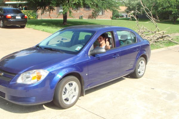 The purple Chevy Cobalt Riess and Salinas rented to drive 3500 miles in 5 days on a sales tour in 2008. That trip resulted in sales contacts that Popular Ink is still benefiting from.