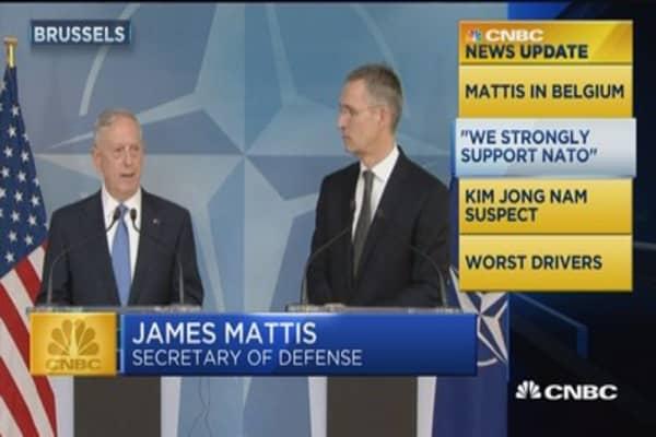 News Update: Defense secretary attends first NATO meeting