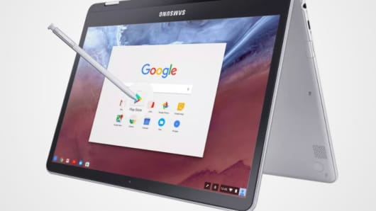 Samsung Chromebook Pro with Android apps.