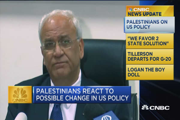 CNBC Update: Palestinians react to possible change in US policy