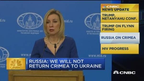 News Update: Russia will not return Crimea to Ukraine
