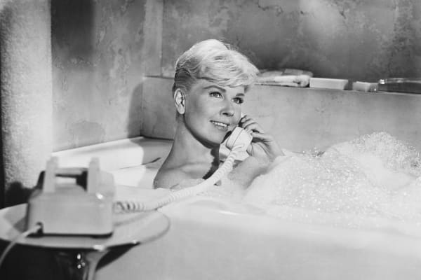 Actress Doris Day in a Scene from the Film Pillow Talk.