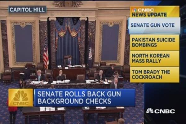 CNBC Update: Senate rolls back gun background checks