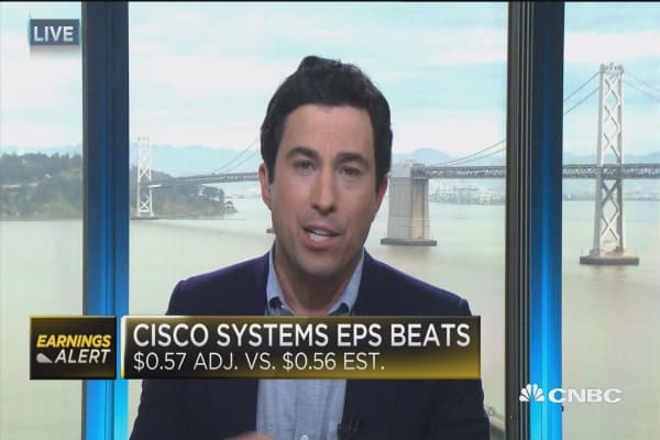 Cisco Systems beats on top & bottom lines