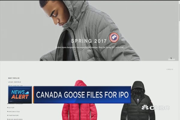 Canada Goose files for IPO