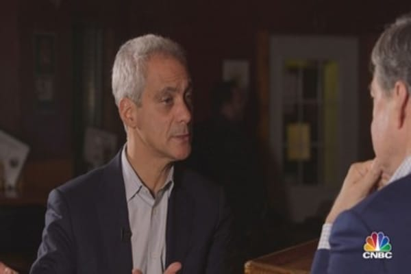 "Emanuel on WH Chief of Staff's troubles: When people would criticize, I'd say ""why don't you sit here 24 hours?"""