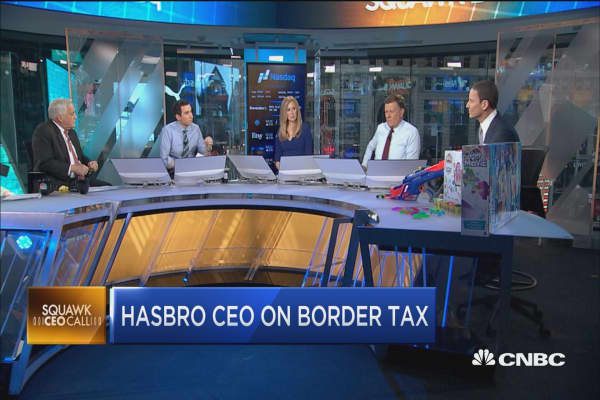 Hasbro CEO: We need to think holistically about border tax
