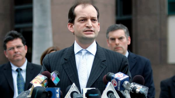 United States Attorney for the Southern District of Florida R. Alexander Acosta in 2007.
