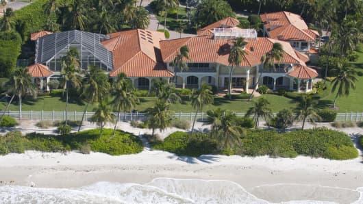 Ocean front mansion.