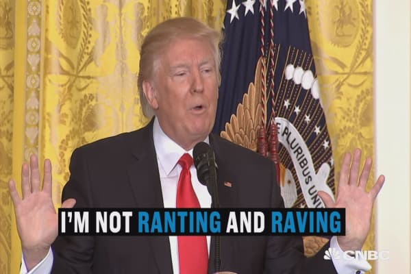 This is President Trump, 'Not ranting and raving'