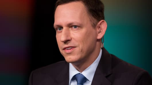 Peter Thiel, American entrepreneur, venture capitalist, and hedge fund manager.