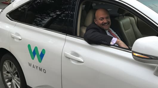 Cramer admits he was wrong about what driverless cars mean for the future of Alphabet.