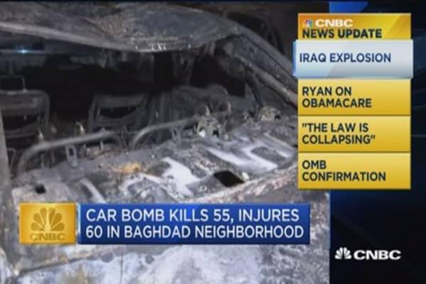 CNBC Update: Car bomb kills 55, injures 60 in Baghdad neighborhood
