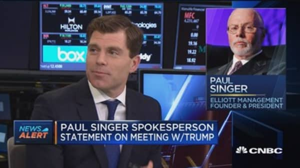Paul Singer spokesperson statement on meeting with Trump