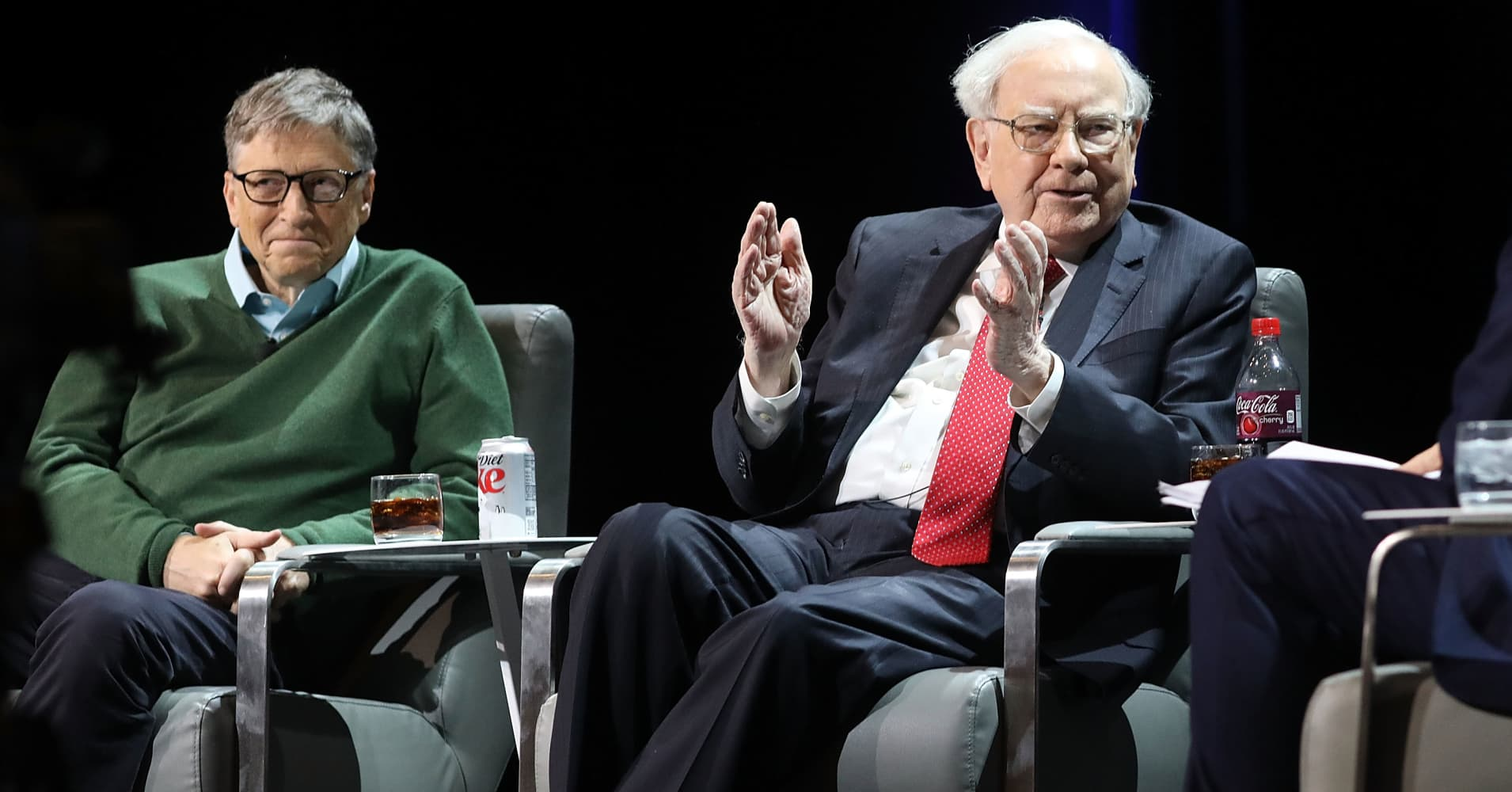 Longtime friends Warren Buffett and Bill Gates