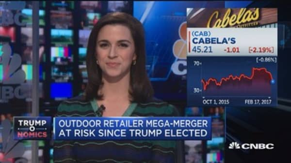 Outdoor retailer mega-merger at risk since Trump elected