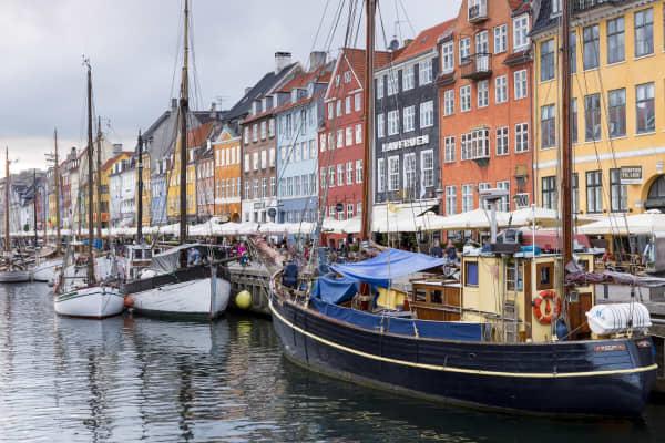 Sailboats in Copenhagen, Denmark.