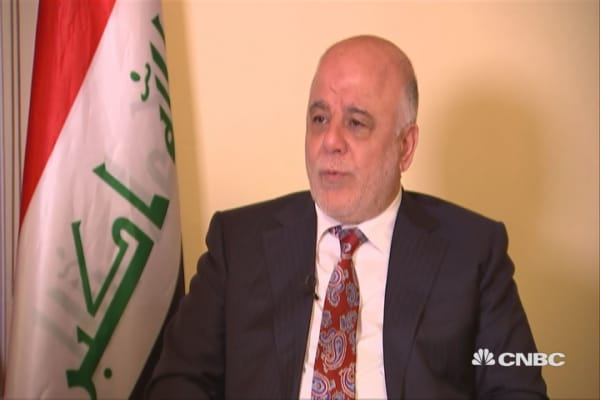 Received positive messages from Trump on Muslim travel ban: Iraqi PM