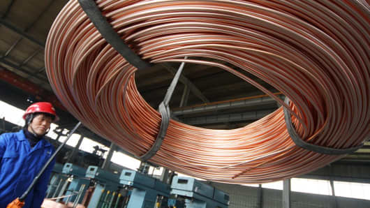 A copper factory in Nantong, China.