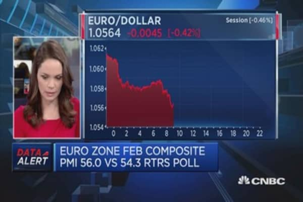 Euro zone growth leaps to near six-year highs