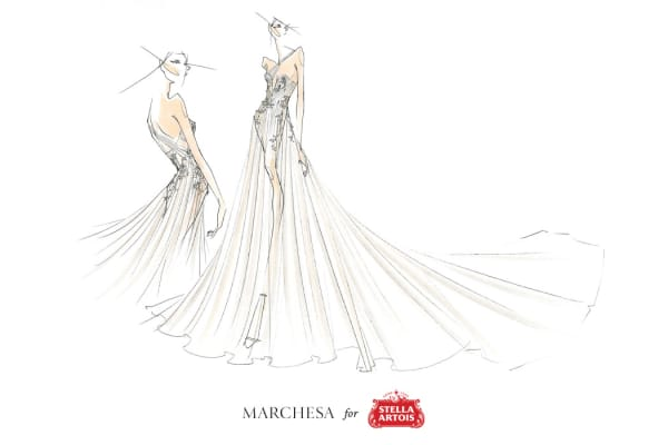 Stella Artois has worked with Marchesa on a dress to promote a partnership with Water.org