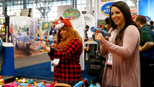 People visit the 'New York Toy Fair 2017' at Jacob K. Javits Convention Center in New York.
