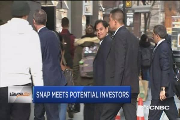 Snap meets potential investors