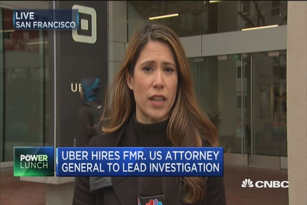 Uber hires former US AG to lead investigation