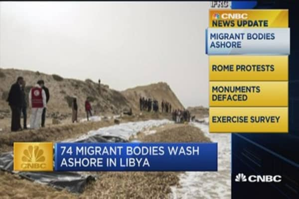 CNBC update: Migrant bodies ashore