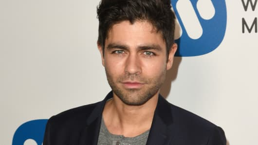 Actor Adrian Grenier at the Warner Music Group Grammy Party at Milk Studios on February 12, 2017 in Hollywood, California