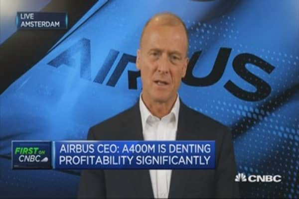 Well positioned in America, says Airbus CEO