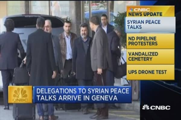 CNBC Update: Delegations to Syrian peace talks arrive in Geneva
