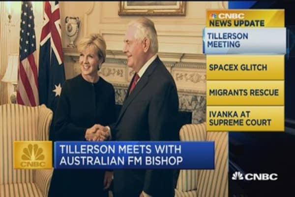 CNBC Update: Tillerson meets with Australian FM Bishop