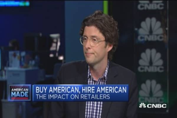 Retail repercussions of 'buy American, hire American'