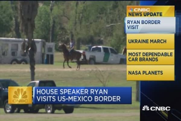 CNBC Update: Speaker Ryan saddles up on a horse