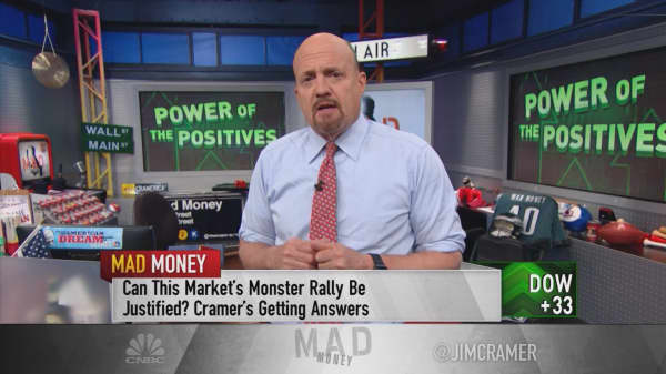 You'd be a fool to bet against the market now: Cramer