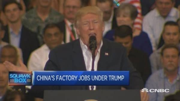 We're not stealing anyone's jobs: Chinese factory workers