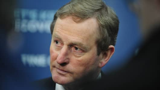 Enda Kenny, Ireland's prime minister.
