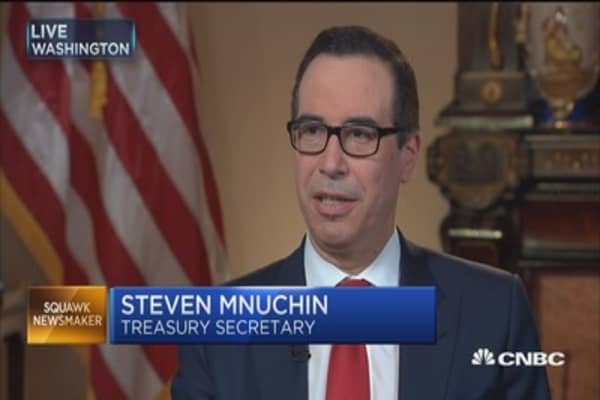 Treasury's Mnuchin: Three percent growth 'very achievable'