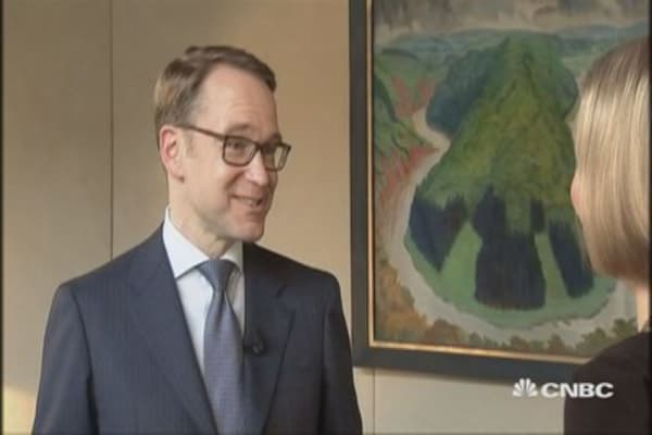 Want for ECB to be less accomodative than it is: Bundesbank president